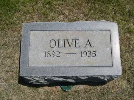 WOLLESEN, OLIVE A. - Dawes County, Nebraska | OLIVE A. WOLLESEN - Nebraska Gravestone Photos