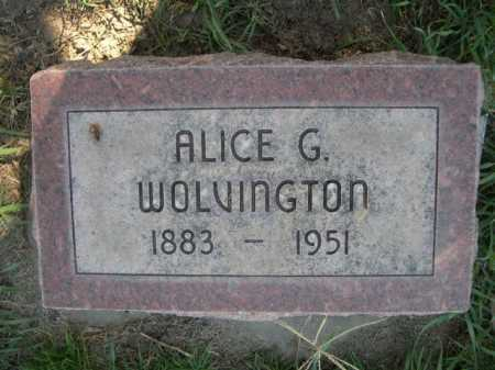 WOLVINGTON, ALICE G. - Dawes County, Nebraska | ALICE G. WOLVINGTON - Nebraska Gravestone Photos