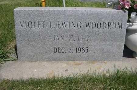 EWING WOODRUM, VIOLET L. - Dawes County, Nebraska   VIOLET L. EWING WOODRUM - Nebraska Gravestone Photos