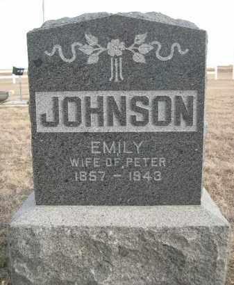 JOHNSON, EMILY - Deuel County, Nebraska   EMILY JOHNSON - Nebraska Gravestone Photos