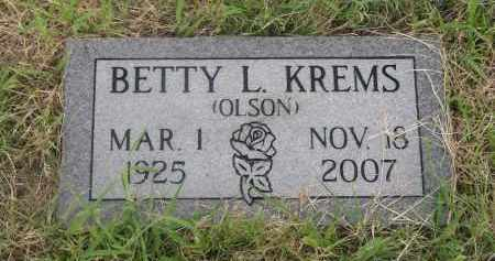 KREMS, BETTY L. - Deuel County, Nebraska | BETTY L. KREMS - Nebraska Gravestone Photos
