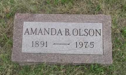JACOBSON OLSON, AMANDA B. - Deuel County, Nebraska | AMANDA B. JACOBSON OLSON - Nebraska Gravestone Photos