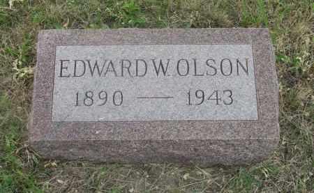 OLSON, EDWARD W. - Deuel County, Nebraska   EDWARD W. OLSON - Nebraska Gravestone Photos