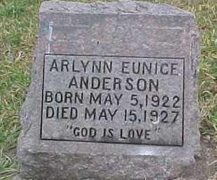 ANDERSON, ARLYNN EUNICE - Dixon County, Nebraska | ARLYNN EUNICE ANDERSON - Nebraska Gravestone Photos