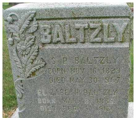 BALTZLY, SIMON PETER - Dixon County, Nebraska   SIMON PETER BALTZLY - Nebraska Gravestone Photos