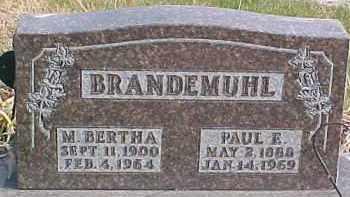 BRANDEMUHL, PAUL E. - Dixon County, Nebraska | PAUL E. BRANDEMUHL - Nebraska Gravestone Photos