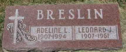 BRESLIN, LEONARD J. - Dixon County, Nebraska | LEONARD J. BRESLIN - Nebraska Gravestone Photos