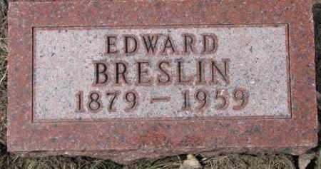 BRESLIN, EDWARD - Dixon County, Nebraska   EDWARD BRESLIN - Nebraska Gravestone Photos