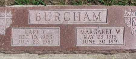 BURCHAM, EARL C. - Dixon County, Nebraska | EARL C. BURCHAM - Nebraska Gravestone Photos