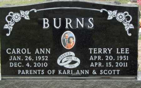 BERNARD BURNS, CAROL ANN - Dixon County, Nebraska | CAROL ANN BERNARD BURNS - Nebraska Gravestone Photos