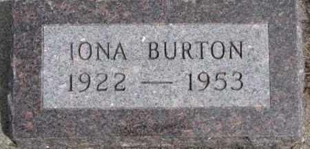 BURTON, IONA - Dixon County, Nebraska | IONA BURTON - Nebraska Gravestone Photos