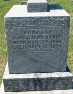 BYRNE, ROSE ANN - Dixon County, Nebraska | ROSE ANN BYRNE - Nebraska Gravestone Photos