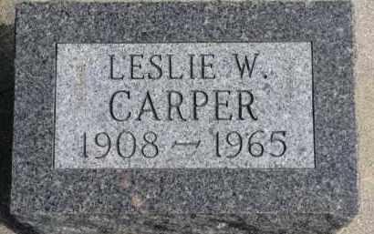 CARPER, LESLIE W. - Dixon County, Nebraska | LESLIE W. CARPER - Nebraska Gravestone Photos