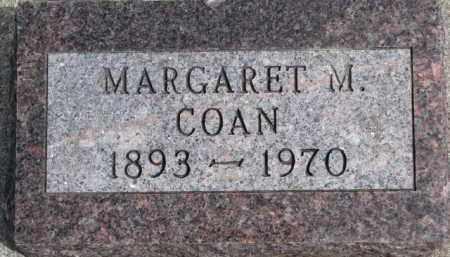 COAN, MARGARET M. - Dixon County, Nebraska | MARGARET M. COAN - Nebraska Gravestone Photos