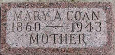 COAN, MARY A. - Dixon County, Nebraska | MARY A. COAN - Nebraska Gravestone Photos