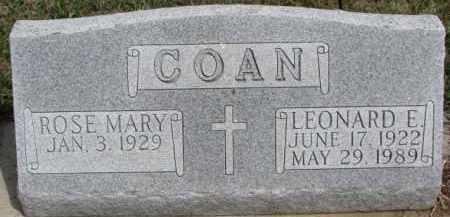 COAN, LEONARD E. - Dixon County, Nebraska | LEONARD E. COAN - Nebraska Gravestone Photos