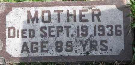 CROWE, MOTHER - Dixon County, Nebraska   MOTHER CROWE - Nebraska Gravestone Photos