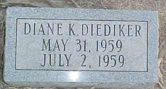 DIEDIKER, DIANE K. - Dixon County, Nebraska | DIANE K. DIEDIKER - Nebraska Gravestone Photos