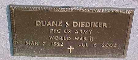 DIEDIKER, DUANE S. (WW II MARKER) - Dixon County, Nebraska | DUANE S. (WW II MARKER) DIEDIKER - Nebraska Gravestone Photos