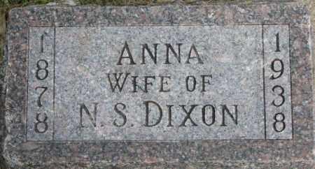 DIXON, ANNA - Dixon County, Nebraska   ANNA DIXON - Nebraska Gravestone Photos