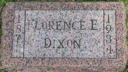 DIXON, FLORENCE E. - Dixon County, Nebraska | FLORENCE E. DIXON - Nebraska Gravestone Photos