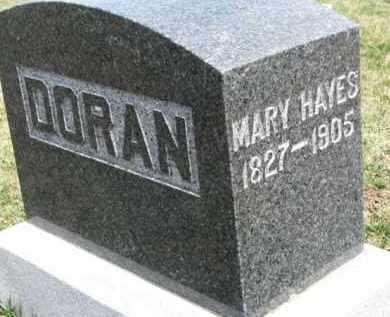HAYES DORAN, MARY - Dixon County, Nebraska | MARY HAYES DORAN - Nebraska Gravestone Photos