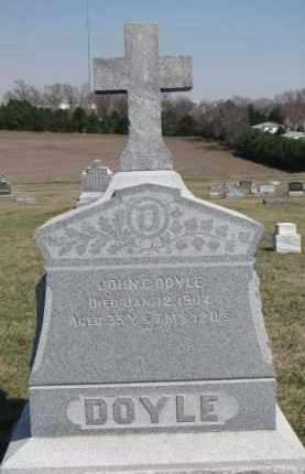 DOYLE, JOHN C. - Dixon County, Nebraska | JOHN C. DOYLE - Nebraska Gravestone Photos