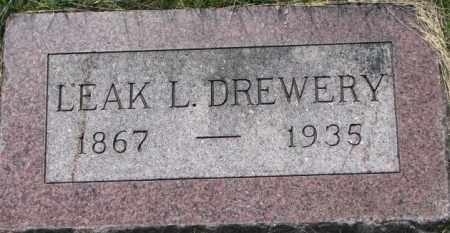 DREWERY, LEAK L. - Dixon County, Nebraska | LEAK L. DREWERY - Nebraska Gravestone Photos