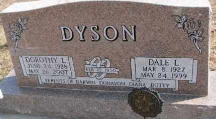 DYSON, DALE L. - Dixon County, Nebraska | DALE L. DYSON - Nebraska Gravestone Photos