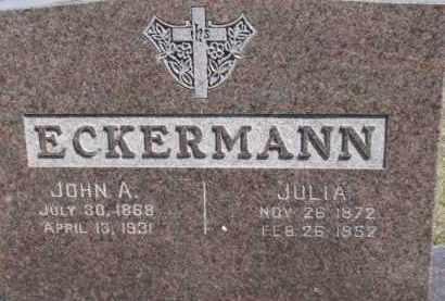 ECKERMAN, JULIA - Dixon County, Nebraska | JULIA ECKERMAN - Nebraska Gravestone Photos