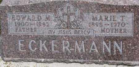 ECKERMANN, MARIE T. - Dixon County, Nebraska   MARIE T. ECKERMANN - Nebraska Gravestone Photos