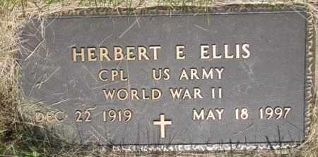 ELLIS, HERBERT E. WW II MARKER) - Dixon County, Nebraska | HERBERT E. WW II MARKER) ELLIS - Nebraska Gravestone Photos