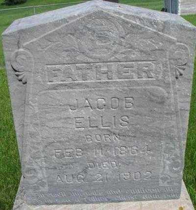 ELLIS, JACOB - Dixon County, Nebraska | JACOB ELLIS - Nebraska Gravestone Photos