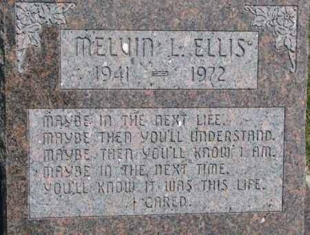 ELLIS, MELVIN L. - Dixon County, Nebraska   MELVIN L. ELLIS - Nebraska Gravestone Photos