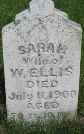 ELLIS, SARAH - Dixon County, Nebraska | SARAH ELLIS - Nebraska Gravestone Photos