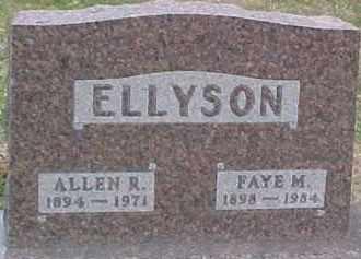 ELLYSON, ALLEN R. - Dixon County, Nebraska | ALLEN R. ELLYSON - Nebraska Gravestone Photos