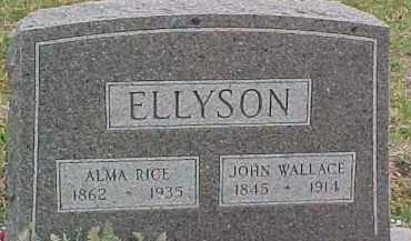 RICE ELLYSON, ALMA - Dixon County, Nebraska | ALMA RICE ELLYSON - Nebraska Gravestone Photos