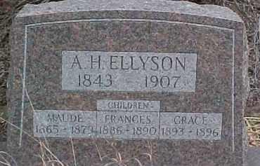 ELLYSON, MAUDE - Dixon County, Nebraska | MAUDE ELLYSON - Nebraska Gravestone Photos