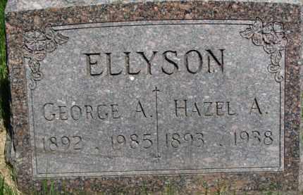 ELLYSON, HAZEL A. - Dixon County, Nebraska | HAZEL A. ELLYSON - Nebraska Gravestone Photos
