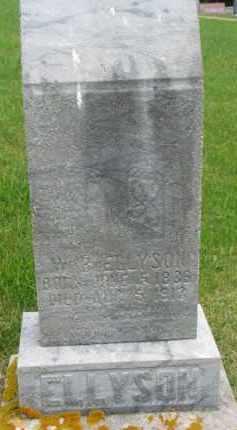 ELLYSON, WILLIAM B. - Dixon County, Nebraska   WILLIAM B. ELLYSON - Nebraska Gravestone Photos