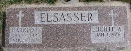 ELSASSER, LUCILLE A. - Dixon County, Nebraska | LUCILLE A. ELSASSER - Nebraska Gravestone Photos