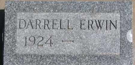 ERWIN, DARRELL - Dixon County, Nebraska | DARRELL ERWIN - Nebraska Gravestone Photos