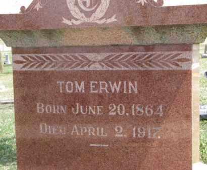 ERWIN, TOM - Dixon County, Nebraska | TOM ERWIN - Nebraska Gravestone Photos