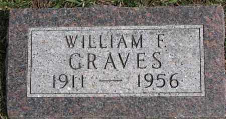 GRAVES, WILLIAM F. - Dixon County, Nebraska   WILLIAM F. GRAVES - Nebraska Gravestone Photos