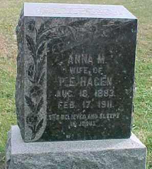 HAGEN, ANNA M. - Dixon County, Nebraska   ANNA M. HAGEN - Nebraska Gravestone Photos