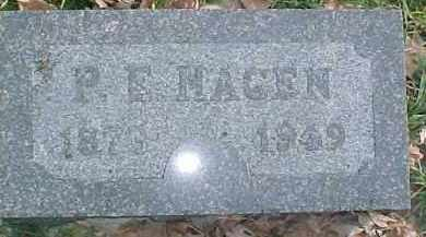 HAGEN, P.E. - Dixon County, Nebraska | P.E. HAGEN - Nebraska Gravestone Photos