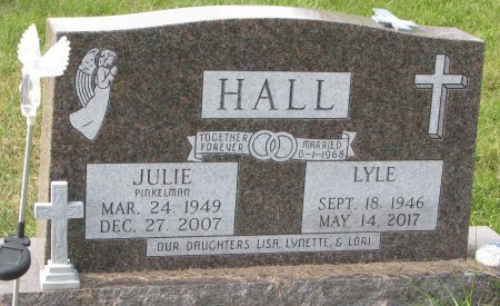 HALL, JULIE - Dixon County, Nebraska | JULIE HALL - Nebraska Gravestone Photos