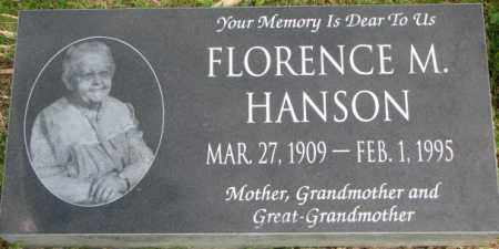 HANSON, FLORENCE M. - Dixon County, Nebraska | FLORENCE M. HANSON - Nebraska Gravestone Photos