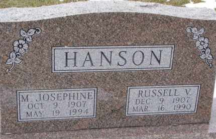 HANSON, M. JOSEPHINE - Dixon County, Nebraska | M. JOSEPHINE HANSON - Nebraska Gravestone Photos