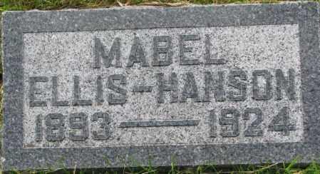 ELLIS HANSON, MABEL - Dixon County, Nebraska | MABEL ELLIS HANSON - Nebraska Gravestone Photos